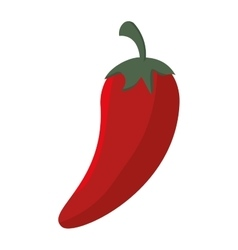 Cartoon red chili pepper mexican design isolated vector