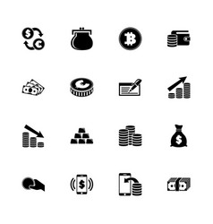 cash - flat icons vector image
