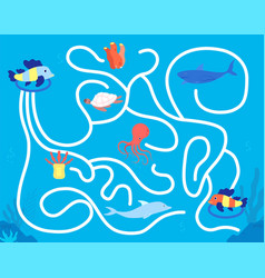 children maze game kindergarten leisure fun vector image
