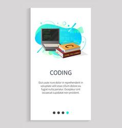 Coding discipline in school or university course vector