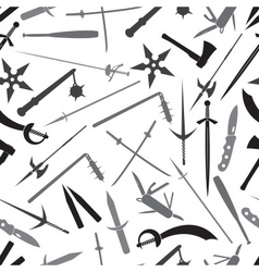 cold steel weapons grayscale pattern eps10 vector image