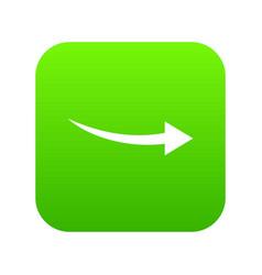 curve arrow icon digital green vector image