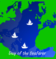 Day of the seafarer 25 june outlines of the vector