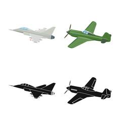 Design plane and transport sign vector