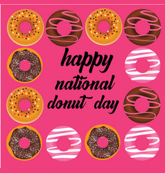 Donut national day vector