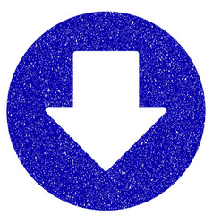 Down icon grunge watermark vector
