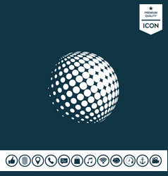 earth logo - halftone sphere vector image