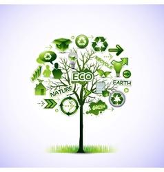 ecological idea tree vector image
