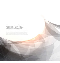 Elegant gray and white abstract background vector