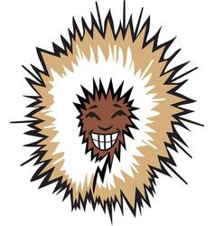 eskimo head logo mascot vector image