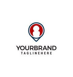 find people location logo designs template vector image