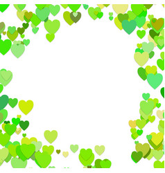 Green random heart background design - love vector