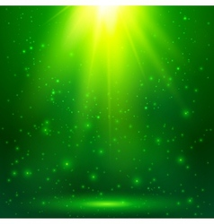 Green shining magic light background vector