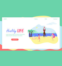Healthy life horizontal banner with copy space vector