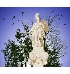 Historical statue athena vector