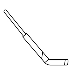 Hockey stick icon outline style vector image