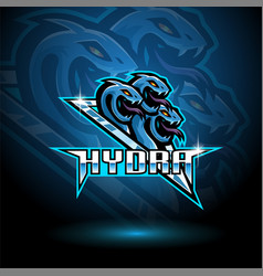 hydra esport mascot logo design vector image