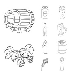 isolated object of pub and bar icon set of pub vector image