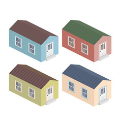 isometric house 3d icon with different vector image