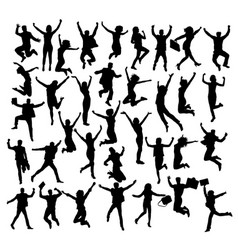 Jump if you like business silhouettes vector