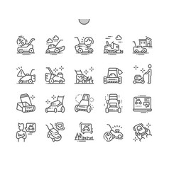 Lawn mower well-crafted pixel perfect thin vector