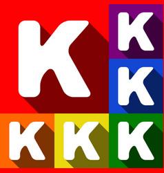 letter k sign design template element set vector image