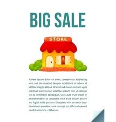 Little cute shop icon in cartoon style Big Sale vector image