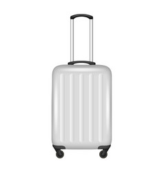 Luggage bag icon realistic style vector