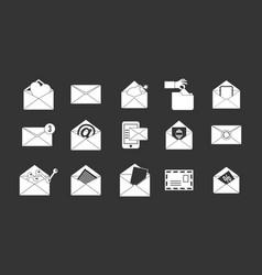 mail icon set grey vector image