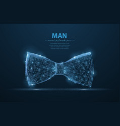 Man tie abstract design male suit cloth vector