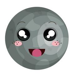 Mercury planet kawaii character vector