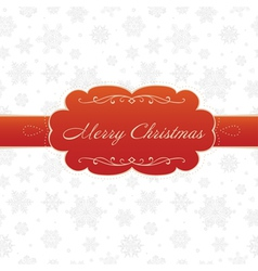 merry christmas greeting card white vector image