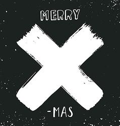 Merry X-mas vector