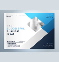 modern blue business brochure flyer template vector image