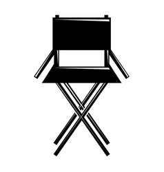 Movie director chair equipment icon vector