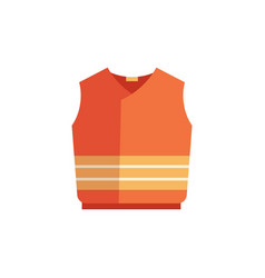 Protecting waistcoat safety vest flat icon vector