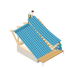 roofer isometric icon vector image
