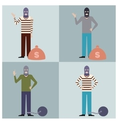 set thieves3 vector image