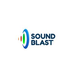 simple clean sound ripple wave logo design vector image
