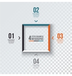 Square infographic vector