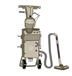 Suitcases vacuum cleaner vector