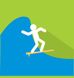 surfing icon set of great flat icons with style vector image