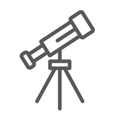 telescope line icon space and astronomy magnify vector image