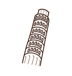 The Leaning Tower of Pisa vector image