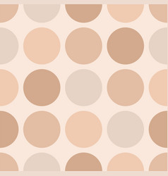 Tile pastel pattern with big dots on beige vector