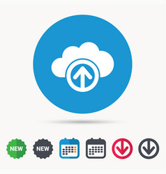 upload from cloud icon data storage sign vector image