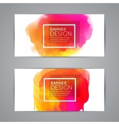 Watercolor festive Banner Cards for Wedding vector