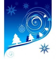 winter holiday Christmas card vector image