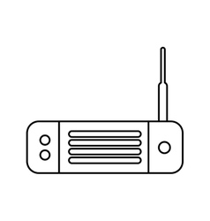 wireless router isolated icon vector image