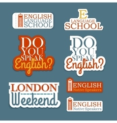 English Language Set vector image
